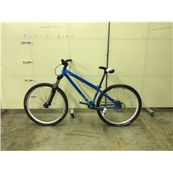 BLUE KONA SINGLE SPEED FRONT SUSPENSION REAR DISC BRAKE MOUNTAIN BIKE