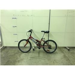 RED SUPERCYCLE 6 SPEED KIDS BIKE
