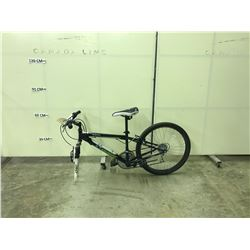 NAKAMURA 18 SPEED FRONT SUSPENSION MOUNTAIN BIKE FRAME AND A RED GARY FISHER STUNT BIKE IN PIECES