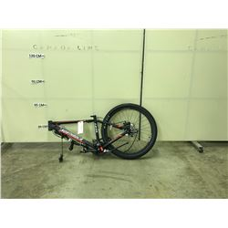BLACK AND RED NORTHROCK XC27 21 SPEED REAR DISC BRAKE BIKE FRAME WITH TIRE