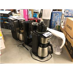 LOT OF ASSORTED COFFEE MAKERS & AQUASANA WATER FILTER