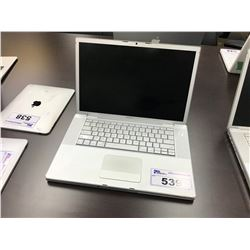 APPLE MACBOOK PRO, 15'', SPECS/CAPACITY UNKNOWN, PASSCODE/ICLOUD LOCK STATUS UNKNOWN, AS-IS