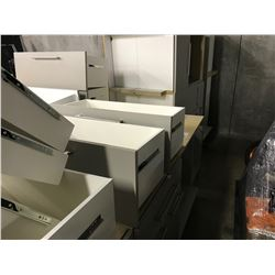 LARGE LOT OF OFFICE STORAGE MILLWORK UNITS, WORK SURFACES NOT INCLUDED, PLEASE PREVIEW, MUST TAKE