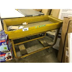 LOT OF 4 ASSORTED ROLLING WAREHOUSE CARTS