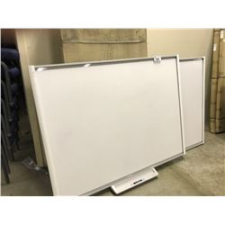 2 SMART BOARD M600 DIGITAL WHITE BOARD UNITS, ONE MISSING PARTS
