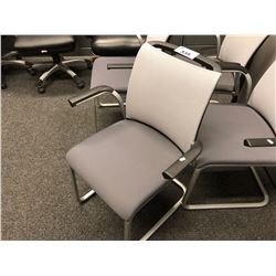 STEELCASE REPLY MESH BACK SLED BASE CLIENT CHAIR, WITH ARMS
