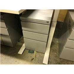 GREY 3 DRAWER PEDESTAL