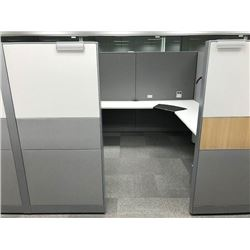 STEELCASE ANSWER 4 PERSON 16' X 16' MODULAR/ADJUSTABLE WORKSTATION SYSTEMS, VIEW ONLINE PICTURES