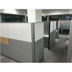 STEELCASE ANSWER 2 PERSON 8' X 16' MODULAR/ADJUSTABLE WORKSTATION SYSTEMS, VIEW ONLINE PICTURES