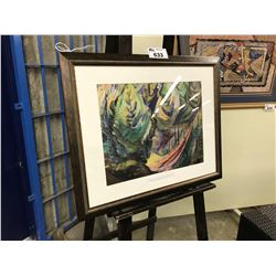 "EMILY CARR FRAMED PRINT, ""PATH AMONG PINES"""