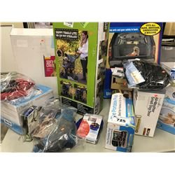 LARGE LOT OF ASSORTED PET SUPPLIES, TOYS, FOOD AND MORE