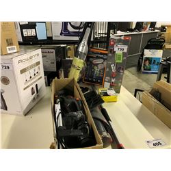 LOT OF ASSORTED VACUUMS AND ACCESSORIES