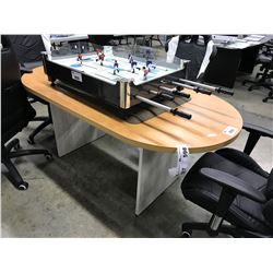 MAPLE 6' RACETRACK BOARDROOM TABLE