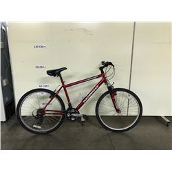 RED NORCO SCORCHER 24 SPEED FRONT SUSPENSION MOUNTAIN BIKE