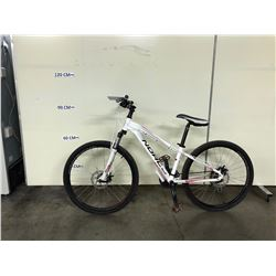 WHITE NORCO STORM 24 SPEED FRONT SUSPENSION MOUNTAIN BIKE WITH FRONT AND REAR DISK BRAKES