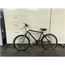 RED INFINITY 18 SPEED FRONT SUSPENSION MOUNTAIN BIKE
