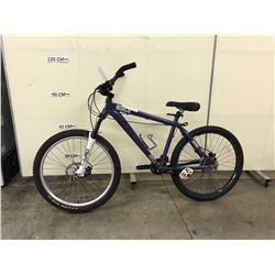 PURPLE NORCO BIGFOOT 14 SPEED FRONT SUSPENSION MOUNTAIN BIKE WITH FRONT AND REAR HYDRAULIC DISK