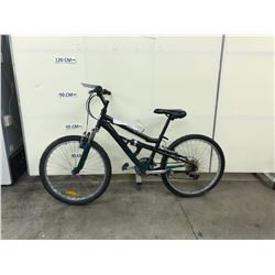 BLACK INFINITY 18 SPEED FULL SUSPENSION MOUNTAIN BIKE