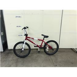 RED HARO SINGLE SPEED BMX BRAKE WITH PEGS AND GYRO