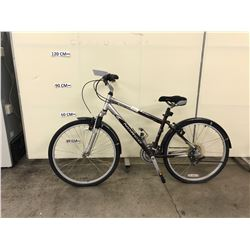 GREY AND PURPLE NORCO PLATEAU 18 SPEED FRONT SUSPENSION MOUNTAIN BIKE