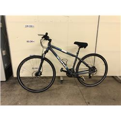 GREY KONA SPLICE 24 SPEED FRONT SUSPENSION MOUNTAIN BIKE WITH FRONT AND REAR HYDRAULIC DISK BRAKES