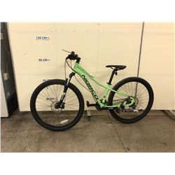 GREEN NORCO STORM 24 SPEED FRONT SUSPENSION MOUNTAIN BIKE WITH FRONT AND REAR DISK BRAKES