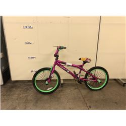 PINK KENT TROUBLE BMX BIKE WITH GYRO AND PEGS