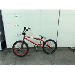 RED HARO BMX BIKE WITH PEGS