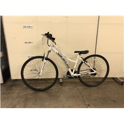WHITE NAKAMURA NINEFOUR 21 SPEED FRONT SUSPENSION HYBRID BIKE