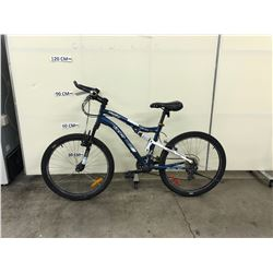 BLUE CCM VANDAL 24 DUAL XC 24 SPEED FULL SUSPENSION MOUNTAIN BIKE
