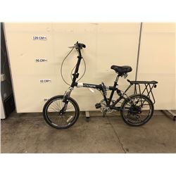 BLACK EXCITER 7 SPEED FULL SUSPENSION FOLDING BIKE