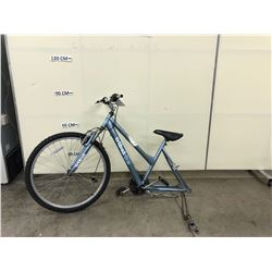 BLUE TRIBAL FRONT SUSPENSION HYBRID BIKE, PARTS ONLY