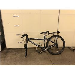 BLACK IRONHORSE FRONT SUSPENSION 21 SPEED MOUNTAIN BIKE, NO FRONT WHEEL