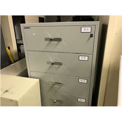GREY GARDEX 4 DRAWER FILE RESISTANT LATERAL FILE CABINET