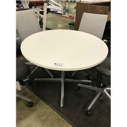"WHITE 42"" ROUND TABLE"