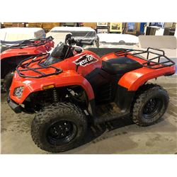2015 ARCTIC CAT 400, RED, GAS, AUTOMATIC, VIN#RFB15ATV1FK6N1091, 509KMS, 59HOURS, 4W, HAS BC