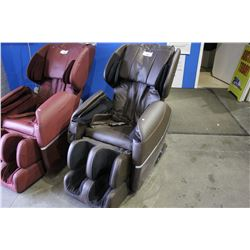 BROWN BEST MASSAGE BM -EC77 ZERO GRAVITY FULL BODY MASSAGE CHAIR - COSMETIC TEARS/SCRATCHES