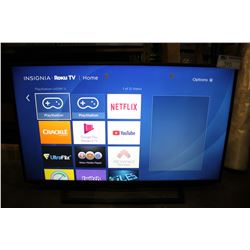 "INSIGNIA ROKU 43"" TV WITH REMOTE MODEL # NS-43DR710CA17"