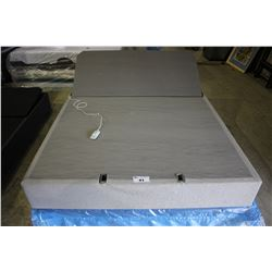QUEEN SIZED TEMPUR-PEDIC FLAT FOUNDATION ELECTRIC ADJUSTABLE BED WITH