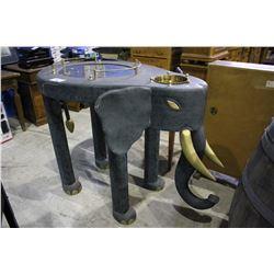 APPROX. 3.5' TALL BLUE ELEPHANT BAR