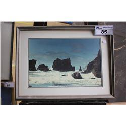 FRAMED ARTWORK - ROCKY COAST