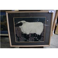 FRAMED ARTWORK - THE BLACK SHEEP
