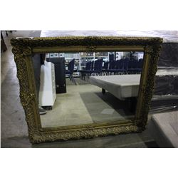 ORNATE FRAMED 3'4 BY 2'9 MIRROR