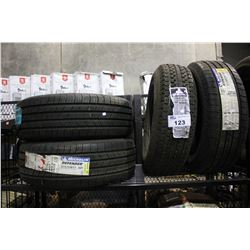 FOUR TIRES - HERCULES POWER ST2 ST205/75R14 100/96L,  PAIR OF MICHELIN DEFENDER  215/55R17 94T