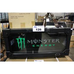 BLACK MONSTER ENERGY BACK BAR COOLER