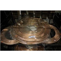 LOT OF COPPER PROPANE/ NATURAL GAS TUBING