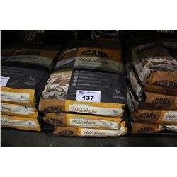 THREE 25LB BAGS OF ACANA WILD PRAIRIE REGIONALS DOG FOOD (WITH FREE-RUN POULTRY, FRESH WATER FISH
