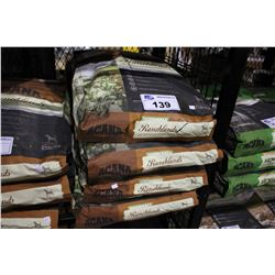 FOUR 25LB BAGS OF ACANA RANCHLANDS REGIONALS DOG FOOD (WITH ANGUS BEEF, GRAIN-FED LAMB, YORKSHIRE