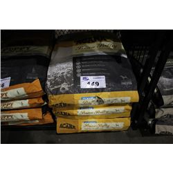 THREE 37.5LB BAGS OF ACANA CLASSICS PRAIRIE POULTRY DOG FOOD (WITH FREE-RUN CHICKEN, TURKEY AND
