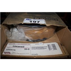 TWO BOXES OF LINCORE 55-G HARDFACING CORED WIRE